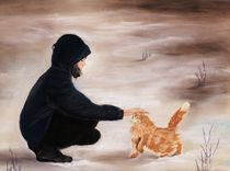 Girl and a Cat von Anastasiya Malakhova