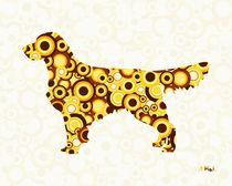 Golden Retriever - Animal Art by Anastasiya Malakhova