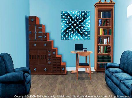 Interior-design-idea-blue-sea-anemone-anastasiya-malakhova