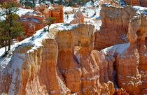 Bryce Canyon 22 kleiner Bergzug mit Schnee und Tanne von Martin Pepper