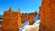 Bryce Canyon 15 Felskasten in schneebedecktem Hang 16:9 by Martin Pepper