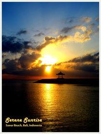 Sunrise at Sanur Beach, Bali by Shella Hudaya