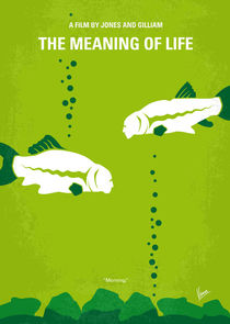 No226 My The Meaning of life minimal movie poster von chungkong