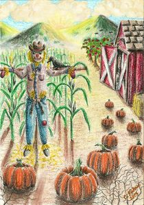 Fall Unscary Scarecrow by Christi Ann Kuhner