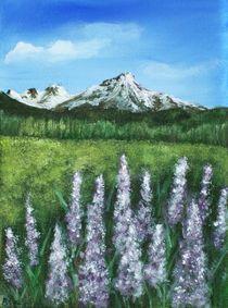Lupin and Mountain by Anastasiya Malakhova