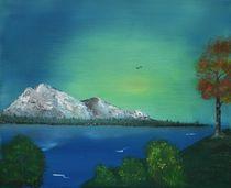 Mountain and Lake Haze von Anastasiya Malakhova