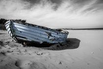 Old Blue Fishboat by Stefan Bruett