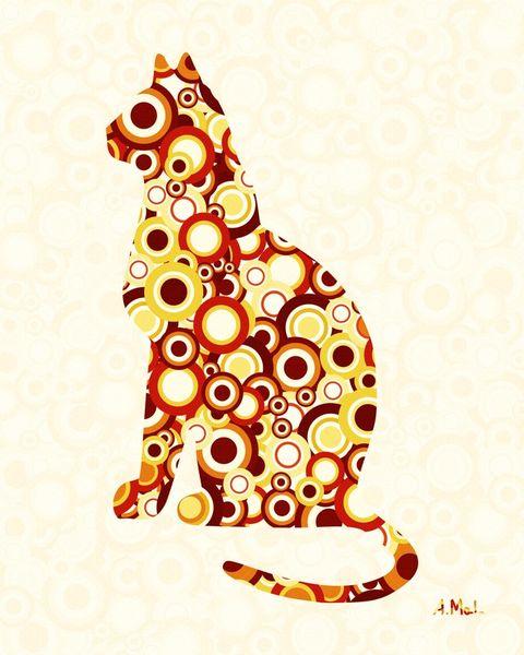 Orange-tabby-animal-art-anastasiya-malakhova