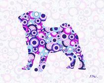 Pug - Animal Art von Anastasiya Malakhova