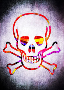 Cool Skull with Colors Palette by Denis Marsili