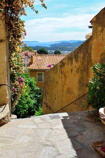 Bormes le Mimosas at the mediterranean sea, cote azur, France by 7horses
