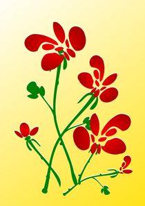 Rooster Flowers by Anastasiya Malakhova