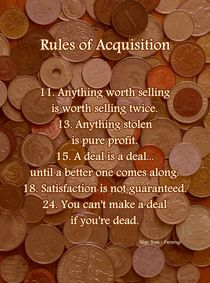 Rules of Acquisition - Part 2 by Anastasiya Malakhova