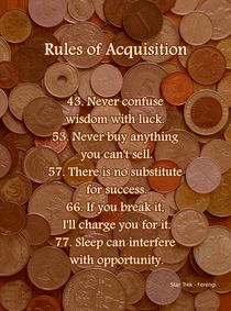 Rules of Acquisition - Part 3 von Anastasiya Malakhova