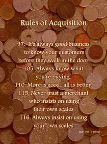 Rules of Acquisition - Part 4 by Anastasiya Malakhova