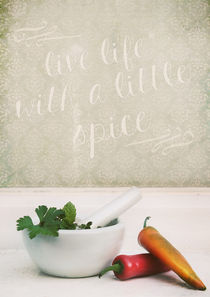 Live Life with a little Spice von Sybille Sterk