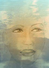 Frauenbild mit Wasserspiegelung von Ingrid Eichhorst