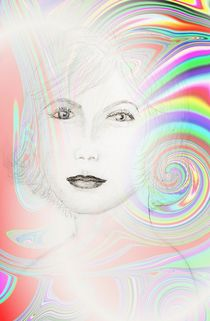 Frauenbild mit Spirale by Ingrid Eichhorst