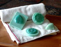 Turquoise Flower and Leaf Soap by Anastasiya Malakhova