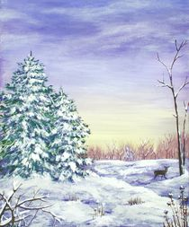Winter Pine Trees by Anastasiya Malakhova