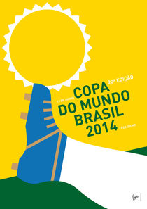 MY 2014 WORLD CUP SOCCER BRAZIL - RIO MINIMAL POSTER von chungkong