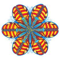 Butterfly Mandala Print von themandalalady