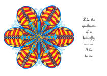 Butterfly Mandala Greeting Card w/Msg by themandalalady