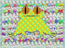 Frog In A Sea Of Petals von Ricardo de Almeida