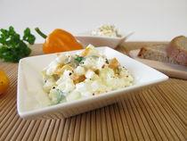 Brotaufstrich mit Hüttenkäse, Oliven und Paprika von Heike Rau