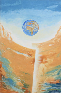 Erdmantel II von Michael Amrit Bleichner