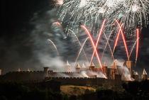 Feuerwerk über Carcassonne by Uwe Karmrodt