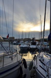 Lavandou international marina in the evening sun at the french Riviera von 7horses