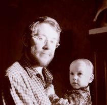 Portrait of the man with the child von Roman Popov