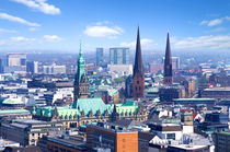 Hamburg Skyline by topas images