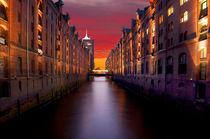 Hamburg-speicherstadt-sunset-sky
