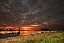 Bleckede sunrise II by photoart-hartmann