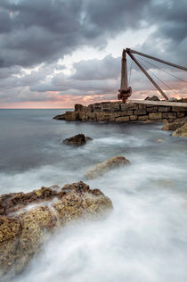 The Old Winch at Portland by Chris Frost