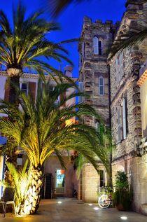 Village of Le Lavandou at night,  cote azur, var, provence, France von 7horses