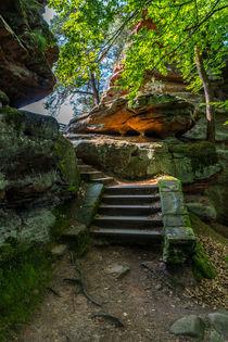 Treppe zum Sprung II von Erhard Hess