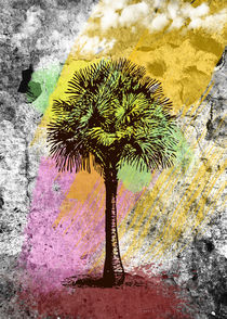 Grunge Palm Tree von Denis Marsili