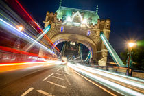Lightbeams London Tower Bridge von Stefan Kloeren