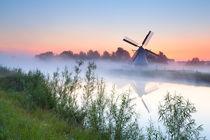 Windmill in sunrise by Olha Rohulya