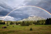Rainbow over Soiern mountains group, Karwendel by Olha Rohulya