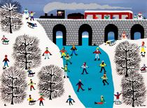 Snowmen on the bridge von Gordon Barker