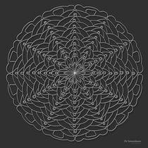 Oh Tannenbaum Mandala Print - white design by themandalalady