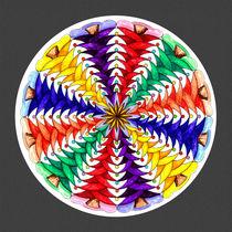 Oh Tannenbaum Mandala Print w/grey bkground by themandalalady