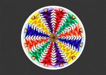 Oh Tannenbaum Mandala Card w/grey bkground von themandalalady