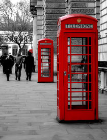 Telephone boxes by John Hastings