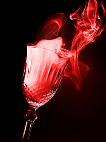 glass of magical smoke on black background by Bombaert Patrick