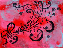 Music Abstract von Julia Fine Art